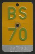 Velonummer Mofanummer Basel Stadt BS 70 - Plaques D'immatriculation