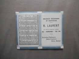 CALENDRIER 1968 R. LAURENT MEUBLES MODERNES ET RUSTIQUES 20 RUE DU GENERAL LECLERC - Petit Format : 1961-70
