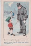 """Illust. MICH . Gamin à Agent De Police Britannique """" Pourquoi Aussi Qu´il Ma Dit........ Que Je Vous En Dise Autant ?"""" - Mich"""