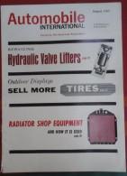 Automobile International Août 1962 Amortisseurs Hydrauliques,  Article Sur La Renault 8, Publicités Auto Radio Bendix - Magazines & Newspapers