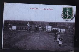 BONNIERES SUR SEINE ECOLE CP TOILEE 1907 SIGNEE FORTIER - Bonnieres Sur Seine