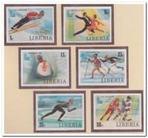 Liberia 1980 Imperf., Postfris MNH, Olympic Wintergames - Liberia