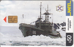"URUGUAY - Boat, Buque Antartico ROU ""Vanguardia""(256a), 12/02, Used - Bateaux"