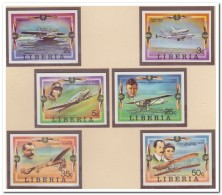 Liberia 1978 Imperf., Postfris MNH, Airplane - Liberia