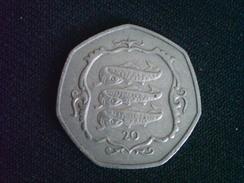 ISLE OF MAN 20 Pence 1984 AA VF Atlantic Herring Fish LOW MINTAGE N/a - Regional Coins