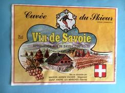 1912 - Vin De Savoie Cuvée Du Skieur - Ski