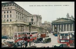 INGLATERRA - LONDRES - Bank Of England And Royal Exchange ( G 7872) Carte Postale - London