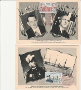 PEROU - 4 CARTE FDC DONT VISITE RENE COTY - ANNEE 1957