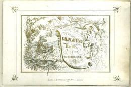 Porceleinkaart - Carte Porcelaine - 19ème Siècle - 19de Eeuw -  F. N. Platteau Notaire à Schoorisse - Publicités