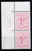 Belgie Drukdatum COB** 1027BP3 - Coins Datés