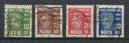 Norwegen - Norway 1929 | Mi. 150-153 Used / Gestempelt | Niels Henrik Abel
