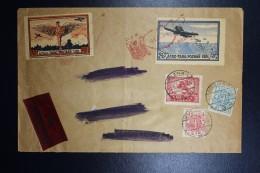 Poland: Poznan 1921 Mi I + II Vorläufer On Express Cover - 1919-1939 Republik