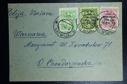 Lettland Latvia Airmail Cover 1932 Mixed Stamps Riga To Warsaw Poalnd,  You Get The Fastet Answer By Airmail In Polish - Lettland