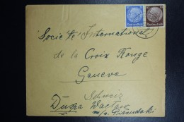 Brief Generalgouvernement Vorlaufer Gotenhafen Brodericka Poland To Geneve Red Cross. 02-12-1939 Mixed Stamps