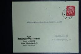 Brief Generalgouvernement Vorlaufer Posen Poland To Berlin 19-12-1939  Ostdeutscher Beobachter Posen  Cover