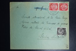 Brief Generalgouvernement Vorlaufer Gnesen Gniezno To Red Cross Geneve Mixed Stamps 3-1-1940 1 Pf Witkowa Cancel