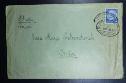 Cover Generalgouvernement Bahnpost Rairoad Dirschau-Eydtkau To Red Cross Geneve  1941