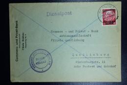 Brief Generalgouvernement Dienstpost Krakau (Krakow) To Quedlinburg Blue Lines= Eastern Area Mi Nr 6