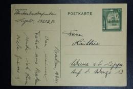 Postkarte Generalgouvernement  Krakau, 1941