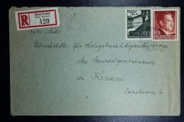 Generalgouvernement Einschreiben Brief  Deutsch Przemysl To Krakau Krakow