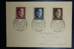 Generalgouvernement Brief Krakau To Lüblin  Mi Nr 89 - 91 - Occupation 1938-45