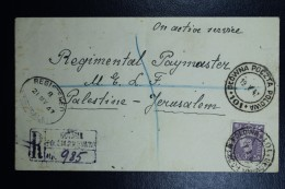 Poland: Registered Cover Polish Field Post Office In Egypt To Jerusalem May 1947 CDS Poczta Polowa 101 See Text - 1944-.... Republic