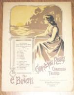 Sentier Roses Poésies ( Chansons Roses ) Par Binetti Pour Mme Livia Gad Partition Musicale Grand Format - Illustration - Partitions Musicales Anciennes