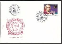 Yugoslavia Zagreb 1987 / 200 Years Of Death Of Rudjer Boskovic / Astronomer / Moon / Cosmos - FDC & Commemoratives