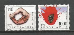 Yugoslavia 1988. STOP AIDS MNH Set - Disease