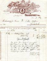1904 Germany Heimann Eiseneaaren Frankfurt Lion Decorative Invoice - Germany