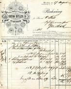 1897 Germany Gustav Dittler Pforzheim Baden Decorative Invoice - Deutschland