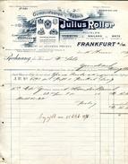 1897 Germany Julius Roller Frankfurt Decorative Invoice - Allemagne