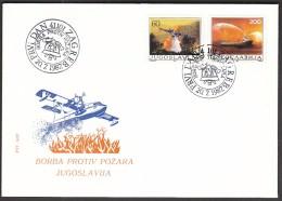Yugoslavia Zagreb 1987 / Fight Against Fire, Fire Fighting / Ship / Plain - Sapeurs-Pompiers