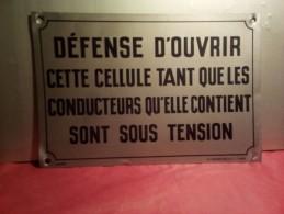 """ANCIENNE PLAQUE 1950 ? ALUFER  H.CHADEFAUD & Cie PARIS 30 Cm  X 20 Cm """"  DEFENSE D'OUVRIR """" - Autres Collections"""