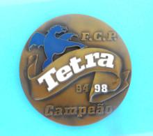 FC PORTO - Tetra Campeao 94 98 * LARGE ENAMEL BRONZE PLAQUE  Portugal Soccer Club Futebol Clube Do Porto Fussball Calcio - Apparel, Souvenirs & Other