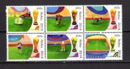 Aruba 2014 Football Soccer World Cup Block Of 6 MNH - 2014 – Brésil