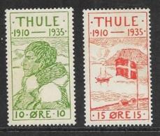 Denmark - THULE Locals - Michel 1-2 MLH - 1913-47 (Christian X)