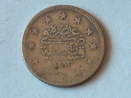 TURQUIE 2 Kurush AH 1293 - 11 / 1885  TURKEY ARGENT SILVER - Turquie