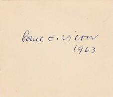 PAUL EMILE VICTOR 1963 - Autographs