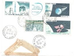3583 CARQUEFOU Lettre EXPRES Sanatorium Maubreuil Ob 11 10 66 Yv 1464 1465 1476 1436 1490 Fusée Diamant Satellite Europa - Covers & Documents