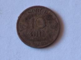 NORVEGE 10 ORE 1909 ARGENT SILVER - Norvège