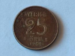 SUEDE 25 ORE 1958 ARGENT SILVER - Suède