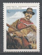 Canada 1992. Scott #1432 (MNH) Canadian Folklore, Legendary Heroes, Jerry Potts, Guide, Interpreter - Neufs