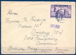 POLONIA 1948 , SOBRE CIRCULADO ENTRE KLADZKO Y ALEMANIA - 1944-.... Republik