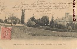 SAGY ECOLES MAIRIE PONT DE PEAGE TILLEUL HENRI IV EGLISE ET CURE 71 - France