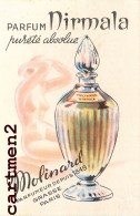 CARTE PARFUMEE PARFUM MIRMALA PAR MOLINARD - Vintage (until 1960)