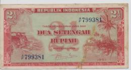 INDONESIA P.  39 2,5 R 1951 VF - Indonésie