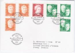 Sweden Sverige 1971 FDC NOBEL PRIZE WINNERS, Curie, Maeterlinck, Wien, Gullstrand, Physics Chemistry Literature - FDC