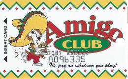 Fiesta Casino Las Vegas, NV - Slot Card  - Embossed Player Info - Casino Cards