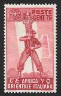 Italian Eastern Africa, Scott # 11 Mint Hinged Fascist Legionary, 1938 - Italian Eastern Africa